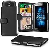 (Black) Nextbit Robin Adjustable Spring Wallet ID Card Holder Case Cover ONX3®