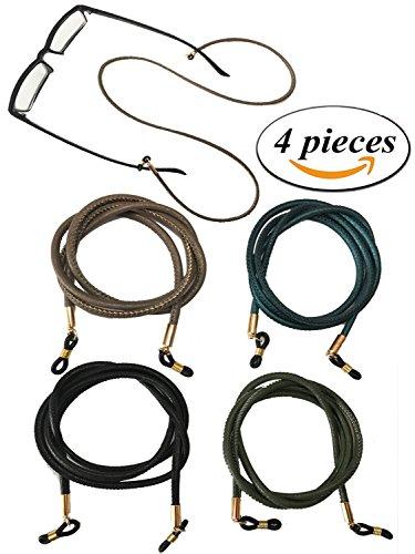 Kenkio 4 pieces PU Leather Eyeglass Strap Eyeglass Chain Eyewear Cord - Glasses Quality Good