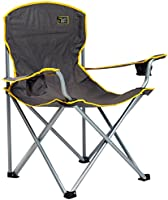 Quik Shade 150239 Folding Chair with Carrying Bag, Heavy Duty 1/4 Ton Capacity, Grey