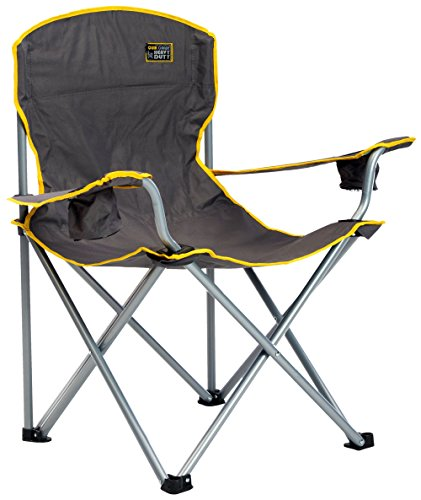 y Folding Camp Chair - Grey (Big Boy Chair)