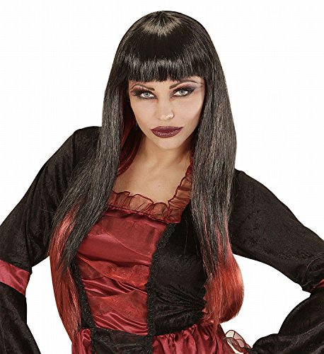 VAMPIRIA WIG - BLACK W/RED TIPS