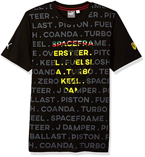 PUMA Men's Scuderia Ferrari Big Shield T-Shirt, Soft Pink Black, M