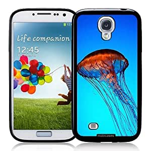 Cool Painting Jelly Fish Blue Nautical - Protective Designer BLACK Case - Fits Samsung Galaxy S4 i9500