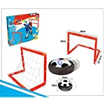 Night Lions Tech(TM)Light Up Air Power Soccer Disk- Two Soccer Goal Posts Outdoor Sports Toys Play Set for Kids by X Toys