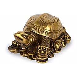 Brass Mini Tortoise Figurine Turtle Statue Feng Shui Animal Home Desk Office Decor Gift ZG0149