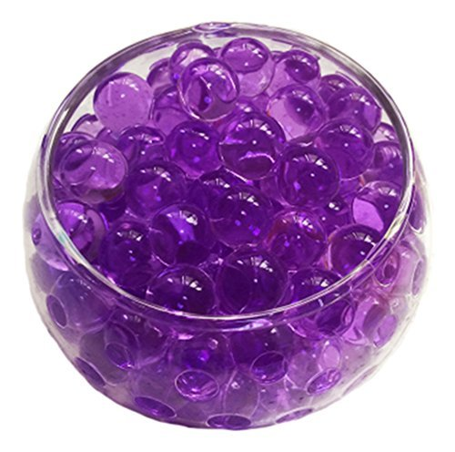 Crystal Soil Water Beads, 2oz/57g, Aqua Gel Ball for Wedding Flower Planting (Dichroic Round Bead)