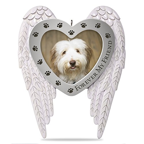 Hallmark Keepsake Christmas Ornament 2018 Year Dated Forever my Friend Pet Memorial Bereavement Metal Photo Frame (Christmas Dog Puppy Ornament)