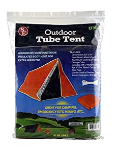 SE ET3683 Emergency Outdoor Tube Tent with Steel Tent Pegs from SE