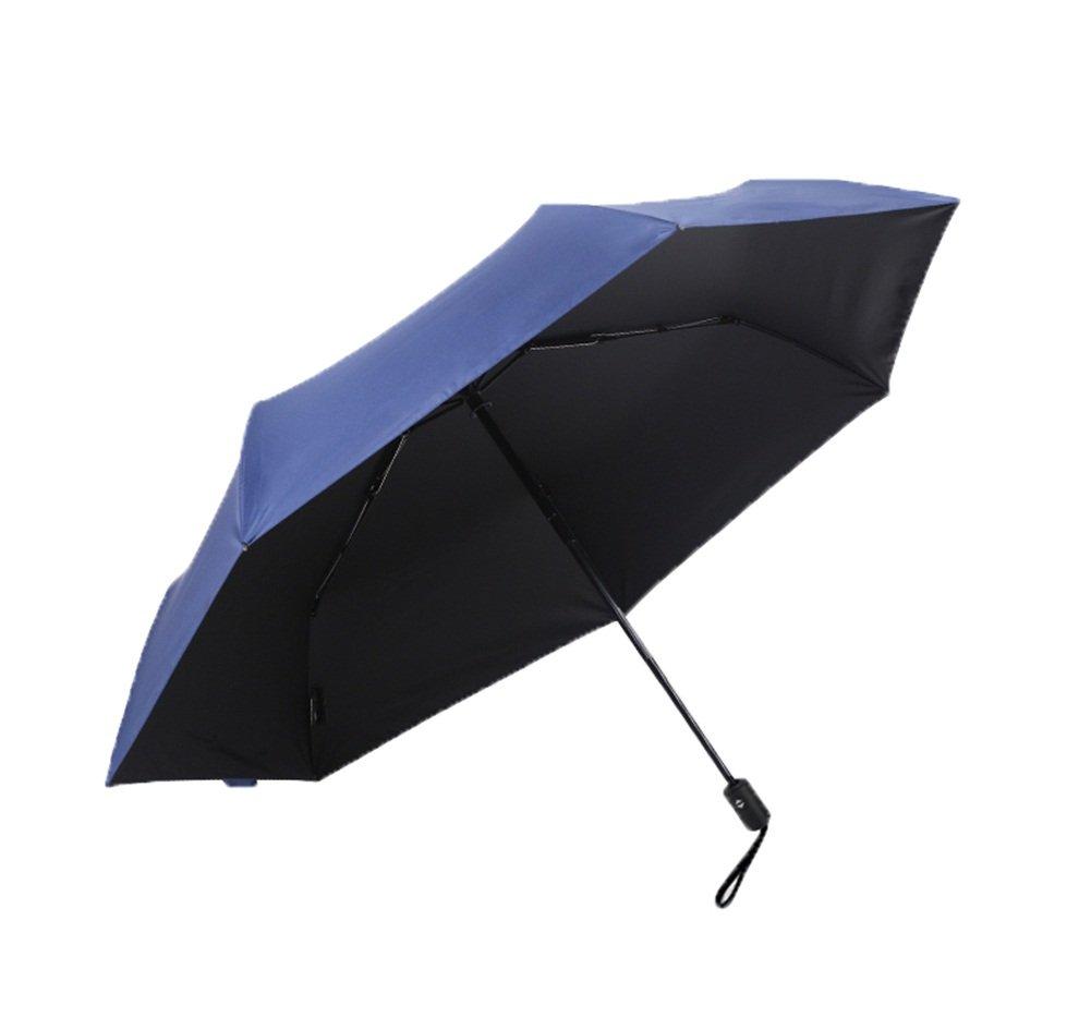 傘 自動開閉ボタン 自動 片手操作 防風 パラソル 日焼け防止 3つ折り 通勤用傘 メンズ レディース 釣り ショッピング アウトドア (カラー:ダークブルー)   B07L89YBN1