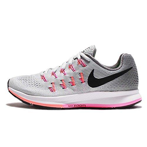 Nike Shox Air - NIKE Women's Air Zoom Pegasus 33 Pr Pltnm/Blk Cl Gry PNK BLST Running Shoe 6.5 Women US