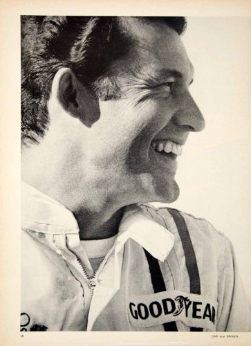 1968 Ad Goodyear Richard Petty Grand National Champion Tires Polygas Blue Streak - Original Print Ad from PeriodPaper LLC-Collectible Original Print Archive