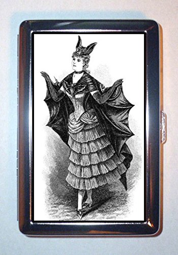 Bat Lady Gothic Victorian Vampire AMAZING Hot Stainless Steel ID or Cigarettes Case (King Size or 100mm) -