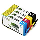 JARBO 1 Set Remanufactured HP 902 Ink Cartridges High Yield, Use in HP OfficeJet 6968 6978 6970 6975 6951 6954 Printer (1 Black 1 Cyan 1 Magent 1 Yellow)