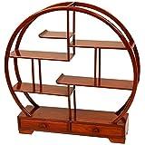 Oriental Furniture Rosewood Mingei Display Stand - Honey