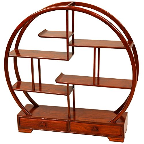 Oriental Furniture Rosewood Mingei Display Stand - Honey (Asian Cabinet Display)