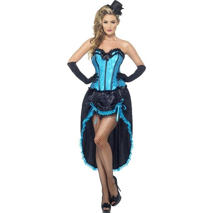 SmiffyS 22188M Disfraz Burlesque De Bailarina, Con Corsé Y Falda ...