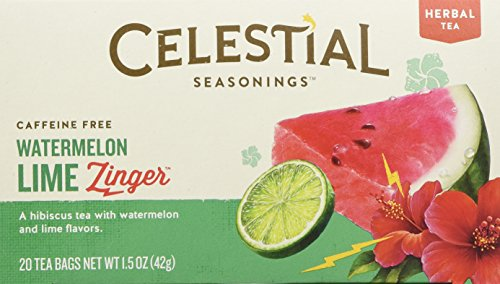 Celestial Seasonings Watermelon Lime Zinger Tea, 20 Tea Bags -
