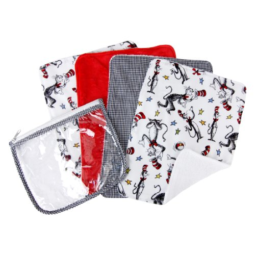 Trend Lab Dr. Seuss Cat in the Hat Gift Set, - Cat Bib Black