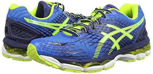 Asics Gel-Nimbus 17, Scarpe Sportive, Uomo Blu (Electric Blue/Flash Yellow/Ind 3907)
