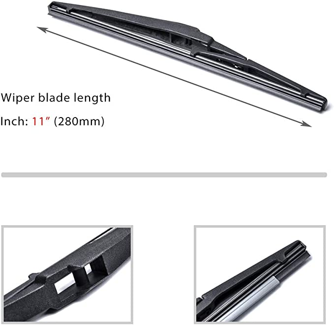Front and Rear Blades 3 x Blades 106 Hatchback Aug 1991 to Jul 2004 Windscreen Wiper Blade Set