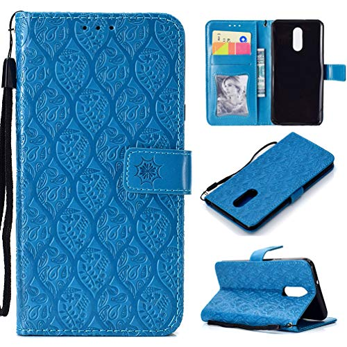 LG Stylo 4 Case LG Q Stylus Floral Branches Wallet Case PU Leather Magnetic Flip Cover Shock Resistant Flexible Soft TPU Slim Protective Bumper with Card Slots Kickstand Lanyard for LG Stylus 4 Blue