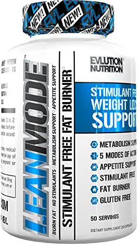 Evlution Nutrition Lean Mode Stimulant-Free Weight Loss Supplement with Garcinia Cambogia, CLA and Green Tea Leaf extract (50 Servings)
