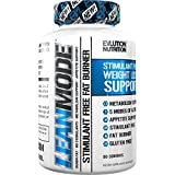 #7: Evlution Nutrition Lean Mode Stimulant-Free Fat Burner Support with Garcinia Cambogia, CLA and Green Tea Leaf extract (50 Servings)
