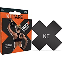 KT Tape PRO X Kinesiology Therapeutic Tape, Elastic Sport Patches, 15 Pack, Jet Black