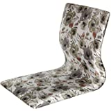 Oriental Furniture Tatami Meditation Backrest Chair - White Floral