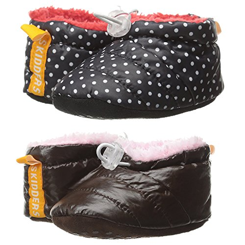 Skidders Puffy Booties Baby Boots Girls, 2 Pack - Multicolor Girls 2, 12M