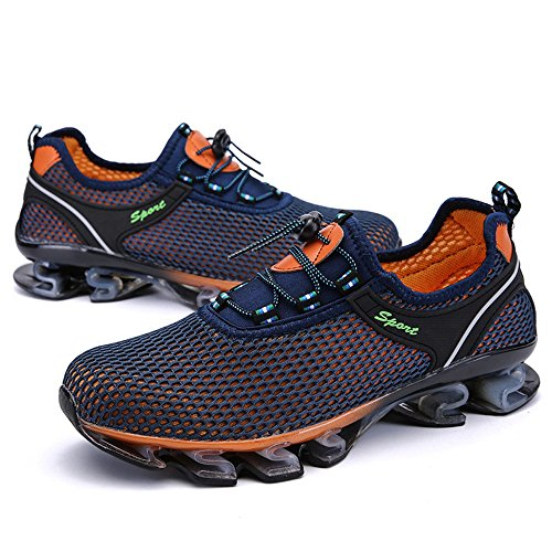 Athletic Zapatillas Azul En De Running Libre Deslizamiento Deporte Al Oscuro Light Walking Mesh Sneaker Aire ALIKEEYMens wtqYaw