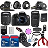 Canon T6i Camera Body with 18-55mm IS STM Lens + 75-300mm III Zoom + Carry Case+ XIT 3Pc Filter Kit + XIT Wide Angle Lens + XIT Telephoto Lens +22pc Accessory Bundle Kit - International Version