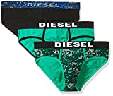 Diesel Men's 3-Pack Andre Cotton Stretch Briefs, Micro Green, L