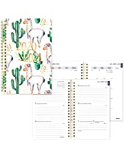 BLUELINE Weekly/Monthly Academic Planner, July 2020 to July 2021, Twin-Wire Binding, Trilingual, Poly Cover, 8 X 5 Inches, Cactus Design (CA114BPG.02-21)