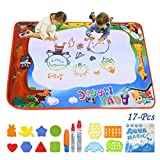 Aqua Magic Mat Conthfut Water Doodle Mat 9 Colors Doodle Drawing Mat Educational Toys for Age 2 3 4 5 6 7 8 9 10 11 12 Year Old Girls Boys Age Toddler Gift