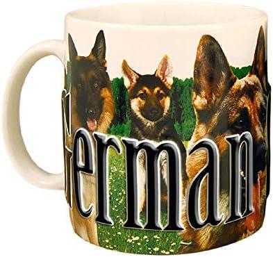 Amazon Com German Shepherd One 18 Oz Coffee Mug Kitchen Dining