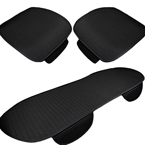 UHeng 3 PCS Car Seat Covers Pad Ice Silk Non-slip Breathable Cushion Mats (Slip Pad Non Cover)