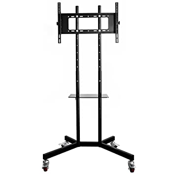 Oulii Portable Tv Stand Mobile Tv Stand With Wheels And Amazon Co