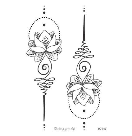 ruofengcp Body Art Etiqueta Engomada del Tatuaje Grande de ...