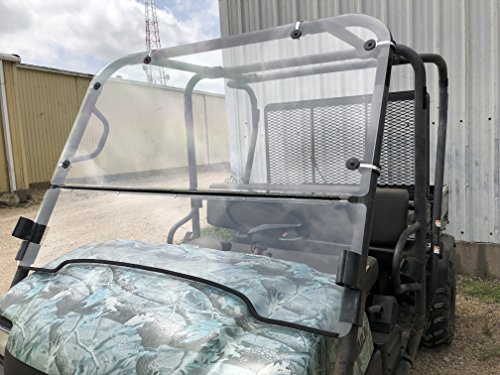 A&S AUDIO AND SHIELD DESIGNS KAWASAKI MULE 3000,3010 TRANS 4X4 FULL AND FLIP UP 3/16 POLYCARBONATE WINDSHIELD ()