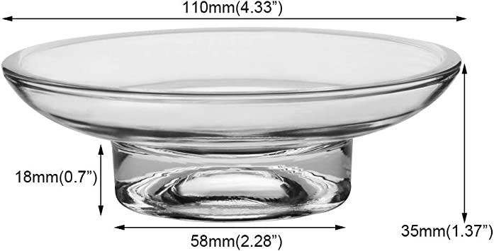 Home Standard Replacement Glass Soap Dish Transparent