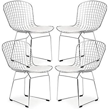 Peachy Amazon Com Poly And Bark Morph Lounge Chair In White Bralicious Painted Fabric Chair Ideas Braliciousco