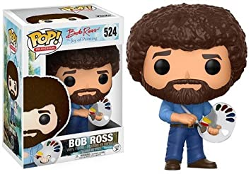 Amazoncom Funko Pop Television Bob Ross Bob Ross Collectible