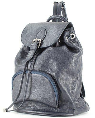 Histoiredaccessoires - Sac à dos pour femme en cuir Sa010414ri-gaetano Navy Blue