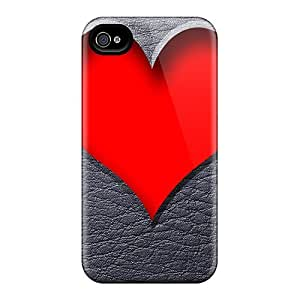 First-class Case Cover For Iphone 4/4s Dual Protection Cover Love Heart by icecream design