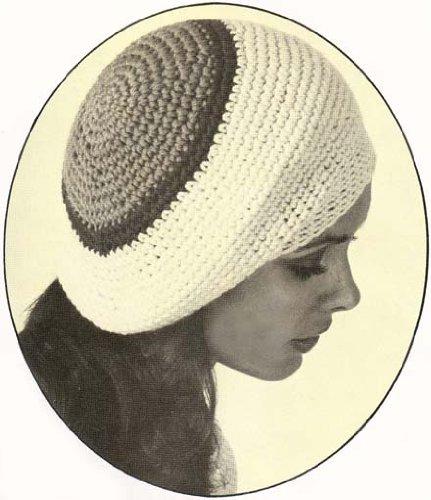 Slouchy Crochet Tam Beret Cap Hat Vintage - Crochet Tam Rasta