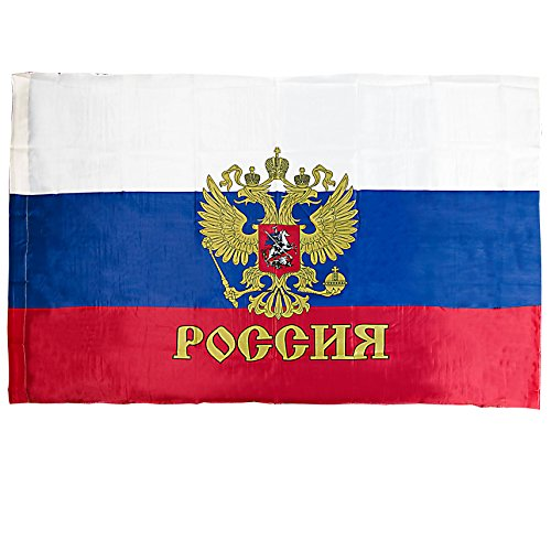 Russian Presidential Banner Flag with Coat of Arms (Imperial Eagle) Pole Hem / Sleeve large 3x5