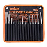 HORUSDY 16-Piece Punch and Chisel Set, Including