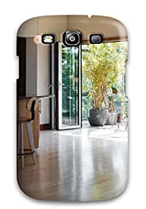 [HAqGXNc2535bOHdS]premium Phone Case For Galaxy S3/ Modern Wood-tone Kitchen With Glass Door Opening To Greenhouse Sun Room Tpu Case Cover