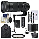 Sigma 120-300mm f/2.8 Sports DG APO OS HSM Zoom Lens with TC-2001 2x Teleconverter + USB Dock + Backpack + Monopod + Kit for Nikon DSLR Cameras